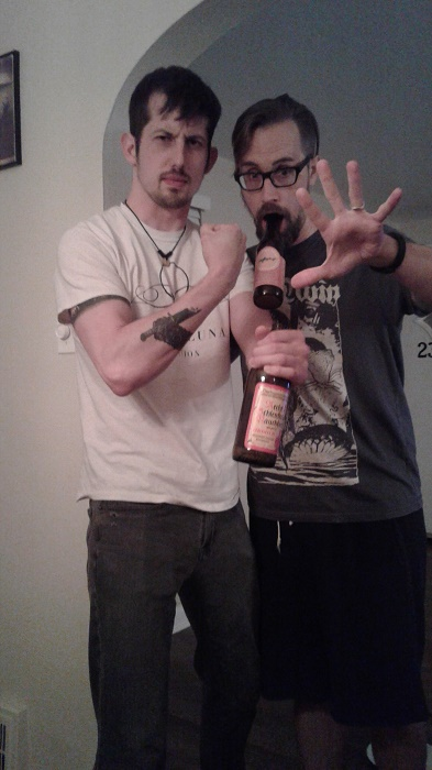 Drunkards: John Kerr (left) and Brian Krasman, the idiot who runs this site.